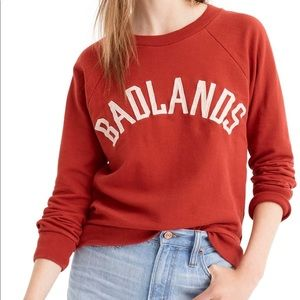 J.Crew Orange Badlands Sweatshirt
